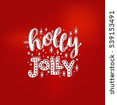 merry christmas card. vector... | Shutterstock .eps vector #539153491