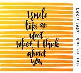 trendy hand lettering poster.... | Shutterstock .eps vector #539155381
