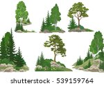 set landscapes  isolated on... | Shutterstock .eps vector #539159764