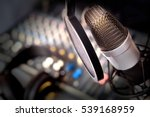 recording equipment in studio.... | Shutterstock . vector #539168959