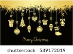 merry christmas greeting card... | Shutterstock .eps vector #539172019