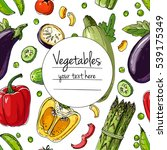 vegetables. fresh food.... | Shutterstock .eps vector #539175349