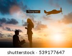 silhouette man kneeling say... | Shutterstock . vector #539177647