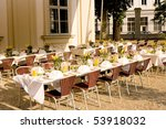 nice place arranged for lunch... | Shutterstock . vector #53918032