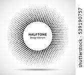 black abstract vector circle... | Shutterstock .eps vector #539190757