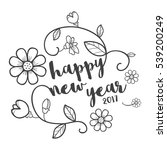 happy new years floral | Shutterstock .eps vector #539200249