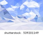 polygonal winter landscape.... | Shutterstock .eps vector #539201149