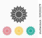 sunflower icon | Shutterstock .eps vector #539203279