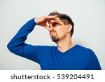 the stench. closes the man's... | Shutterstock . vector #539204491
