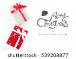 merry christmas and happy new... | Shutterstock . vector #539208877
