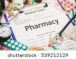 word pharmacy written on a... | Shutterstock . vector #539212129