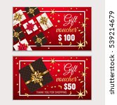 voucher  gift certificate ... | Shutterstock .eps vector #539214679