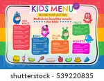 cute colorful vibrant kids meal ... | Shutterstock .eps vector #539220835