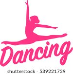 dancing silhouette with word | Shutterstock .eps vector #539221729