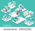 isometric flat interior of... | Shutterstock . vector #539222281