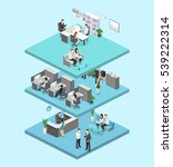 isometric flat 3d abstract... | Shutterstock . vector #539222314