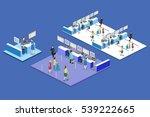 isometric flat 3d concept...   Shutterstock . vector #539222665