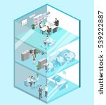 isometric flat 3d abstract...   Shutterstock . vector #539222887