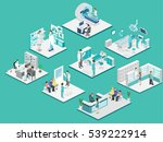 isometric flat interior of... | Shutterstock . vector #539222914
