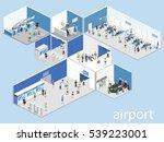 isometric flat 3d concept... | Shutterstock . vector #539223001