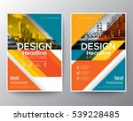 red and orange colorful... | Shutterstock .eps vector #539228485