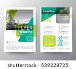 green flyer brochure leaflet... | Shutterstock .eps vector #539228725