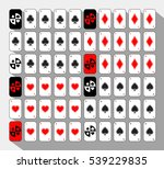 poker card. set sixty white....