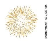 firework gold isolated....   Shutterstock .eps vector #539231785