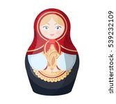 russian matrioshka icon in... | Shutterstock .eps vector #539232109