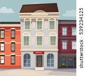 raster image houses in row | Shutterstock . vector #539234125