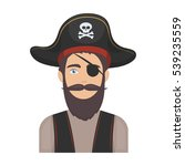 pirate with eye patch icon in