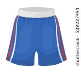 boxing shorts icon in cartoon... | Shutterstock .eps vector #539237491