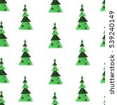 watercolor christmas tree  new... | Shutterstock . vector #539240149