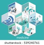 isometric flat interior of... | Shutterstock . vector #539240761