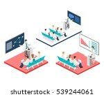 isometric flat 3d concept of... | Shutterstock . vector #539244061