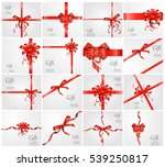 set gift card  on white... | Shutterstock .eps vector #539250817
