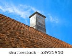 Tiled Roof Top With  Chimney...
