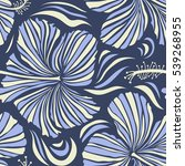 tropical seamless pattern with... | Shutterstock .eps vector #539268955