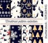 vector collection of 8 seamless ... | Shutterstock .eps vector #539269441