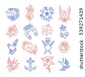 doodle icon. traditional tattoo ... | Shutterstock .eps vector #539271439