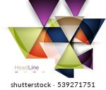 glossy glass modern triangle... | Shutterstock . vector #539271751