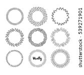 set of hand drawn vector... | Shutterstock .eps vector #539271901