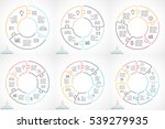vector circle arrows linear... | Shutterstock .eps vector #539279935