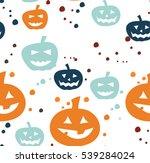 pattern halloween  pumpkin ... | Shutterstock .eps vector #539284024