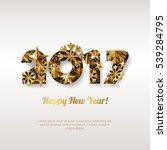 happy new year 2017 vector... | Shutterstock .eps vector #539284795