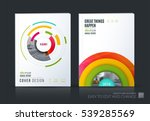 business vector set. brochure... | Shutterstock .eps vector #539285569