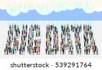 conceptual illustration in flat ... | Shutterstock .eps vector #539291764