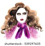 watercolor illustration of... | Shutterstock . vector #539297635