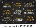 hand written new year phrases.... | Shutterstock .eps vector #539299237