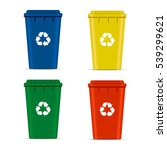 realistic set recycle bins for... | Shutterstock .eps vector #539299621